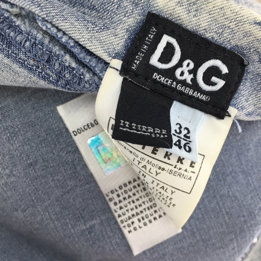 Vintage 90s DOLCE & GABANNALace-Up Denim Skirt, Label