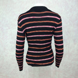 2000s Knit Striped Lurex V-Neck Pullover Sweater, Back