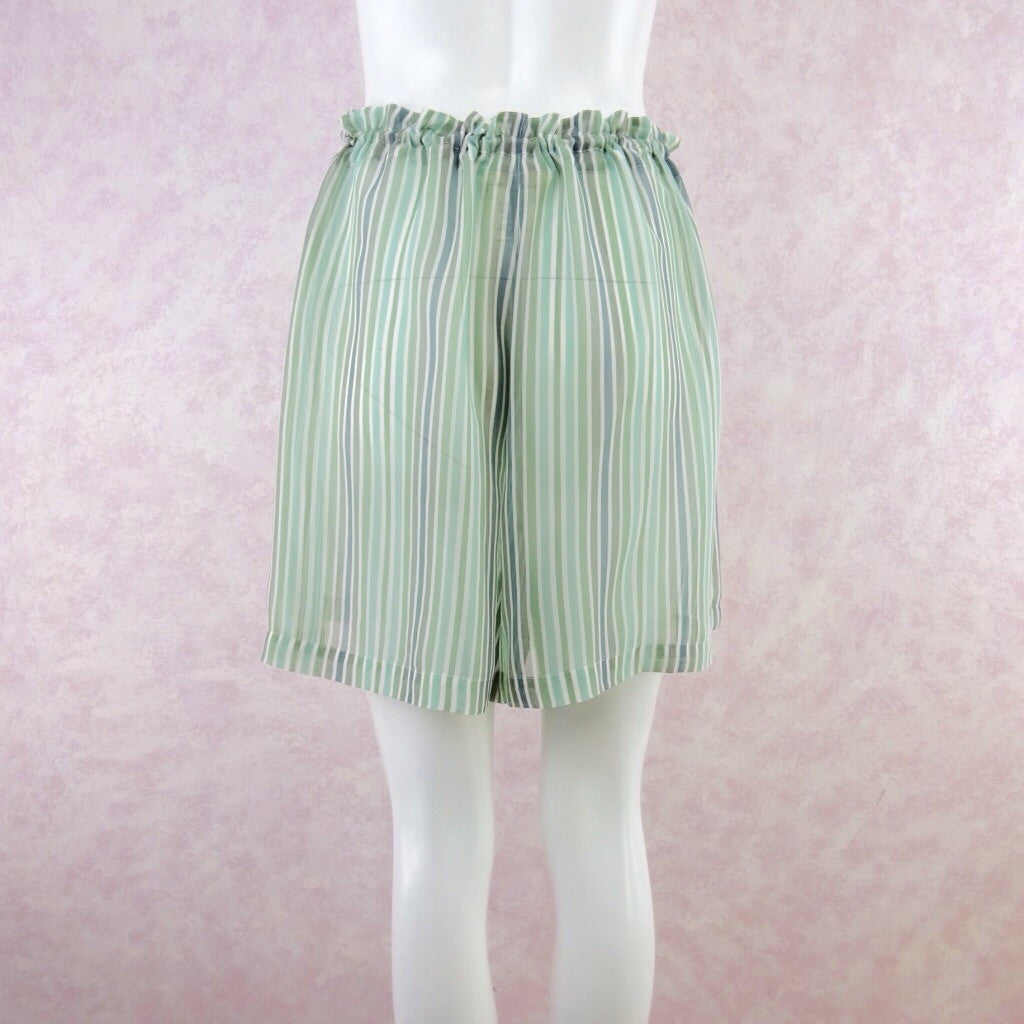 Vintage 90s GO SILK Silk Stripes Shorts, NOS bgfd