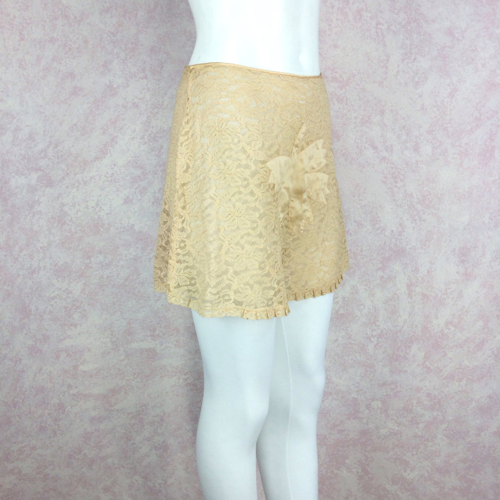 Vintage 40s Lace Tap Pants w/Fig Leaf, Side