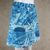 Vintage 90s ICEBERG Weather Print Denim Skirt, Side