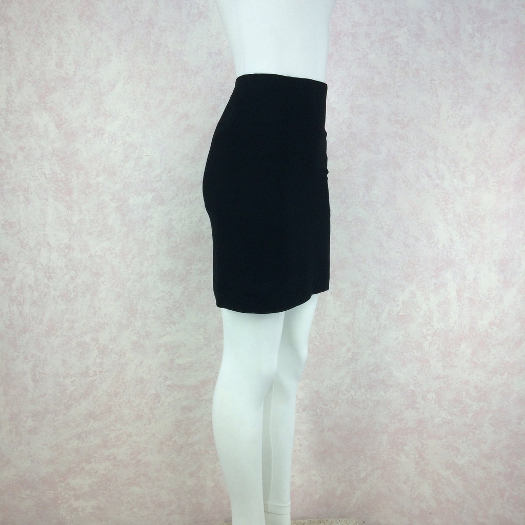 Vintage 90s MOSCHINO COUTURE Short Crepe Skirt, Side