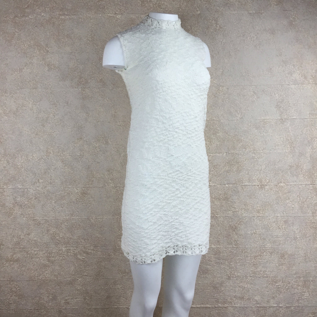 Vintage 60s Knit Bouclé Mini Dress, side