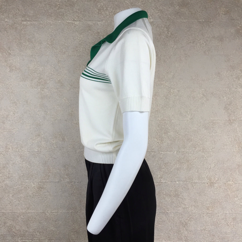 Vintage 70s GIVENCHY Qiana Polo Shirt, Side