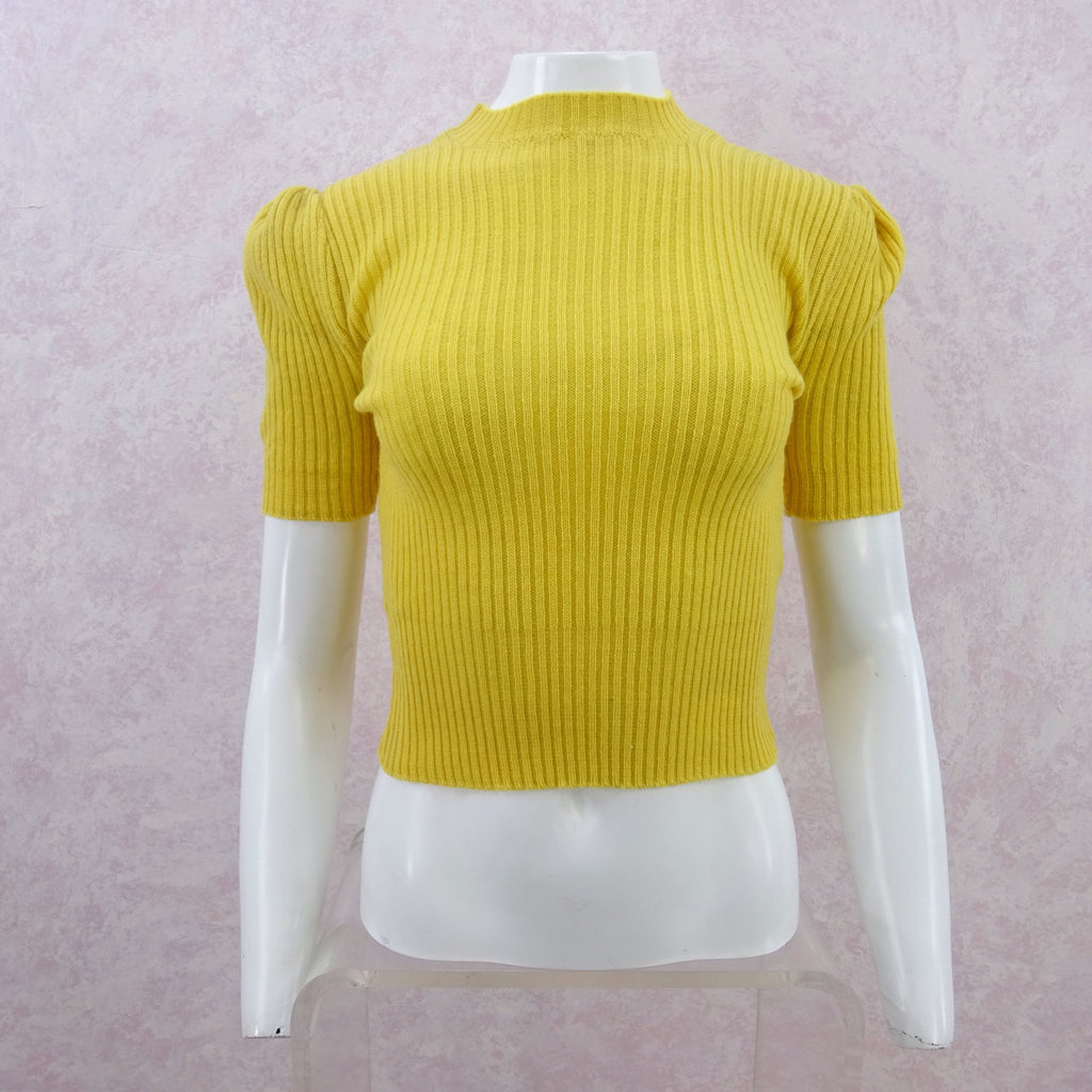 Vintage 40s Ribbed Wool Top
