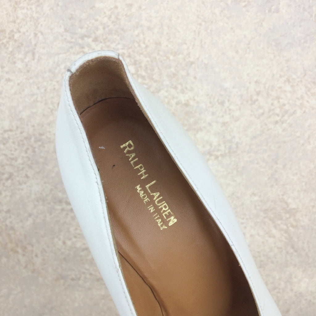 2000s RALPH LAUREN Peep Toe Pumps, Label