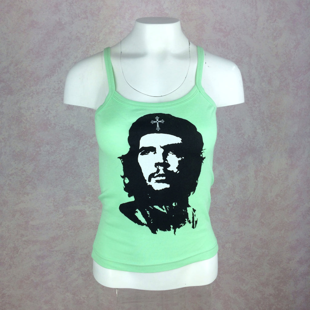 2000s A + G Che Guevara Lime Green Tank Top, Front