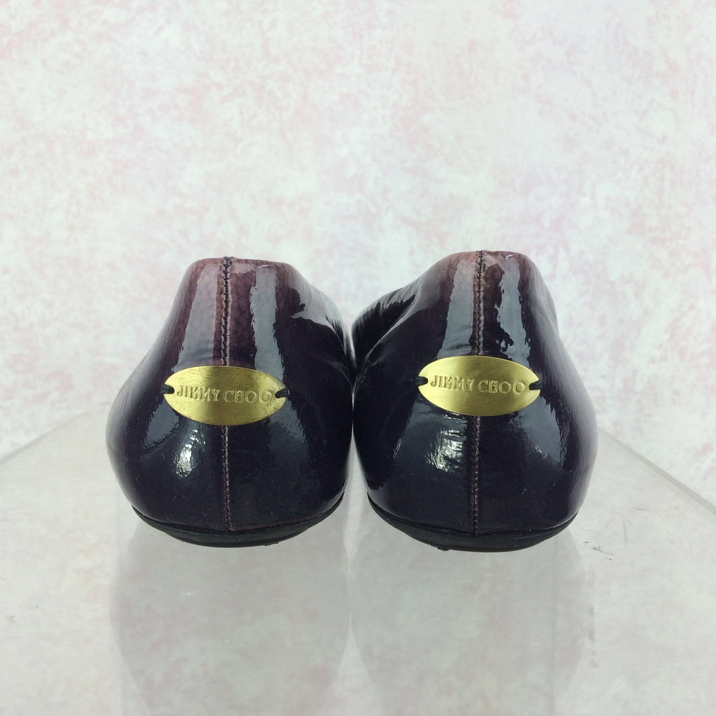 2000s JIMMY CHOO Patent Leather Ballerina Loafers, Back