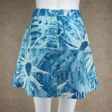 Vintage 90s ICEBERG Weather Print Denim Skirt, Back