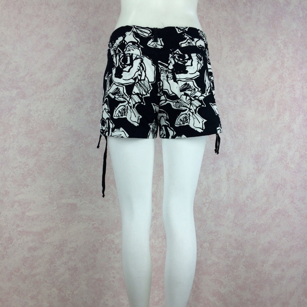 2000s Cotton Floral Shorts w/Drawstring Hem, NOS back