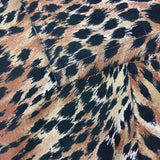 Vintage 80s Ultra-Suede Leopard Jacket, close up