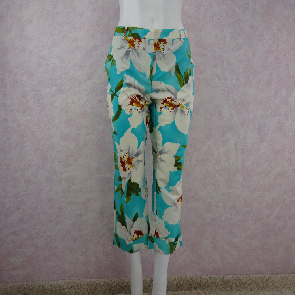 2000s CACHAREL Floral Cropped Pants NWT front