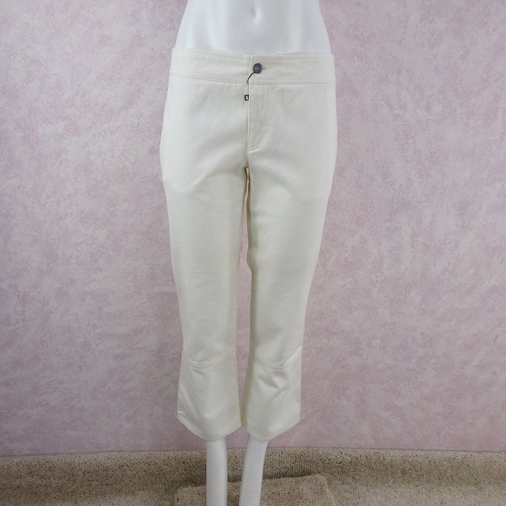 2000s GUCCI White Denim Jeans NWT front