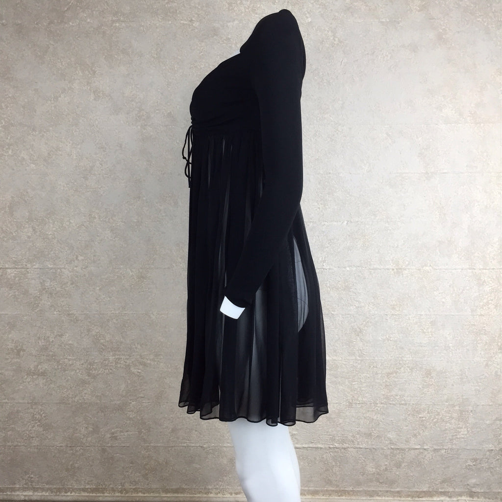 2000s ANGEL ESTRADA Peek-A-Boo Chiffon Top, Side 2