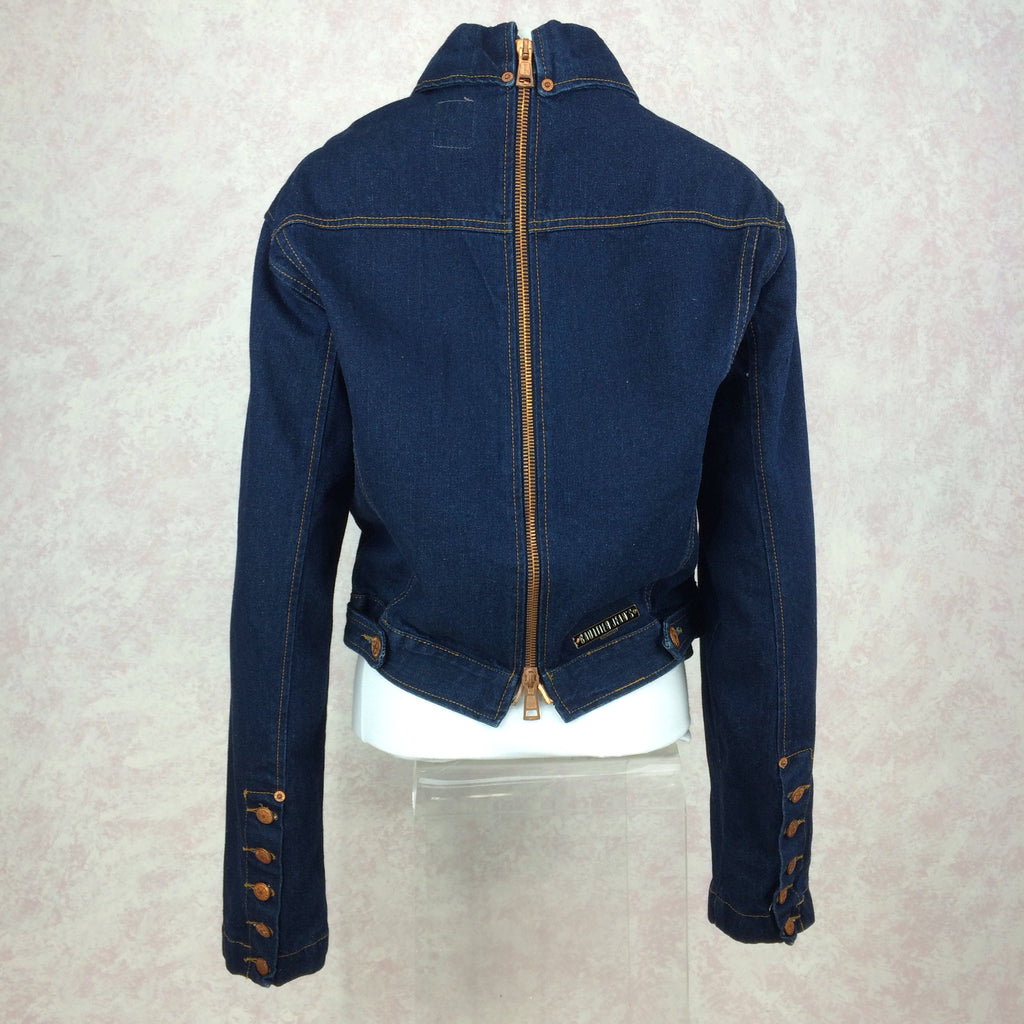 2000s GAULTIER Denim Jacket w/Zip Back 1