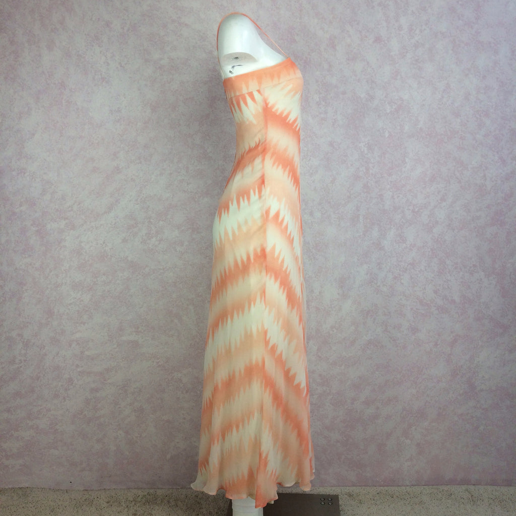 Vintage 70s Pseudo Tie Dye Maxi Dress, Side 2