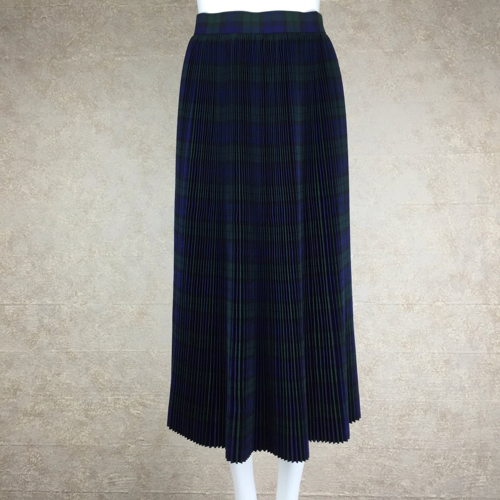 Vintage 50s Plaid Accordian Pleated Skirt, back