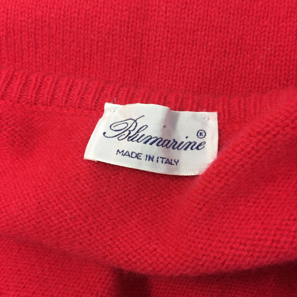 2000s BLUMARINE Knit Twinset, Red.  Label