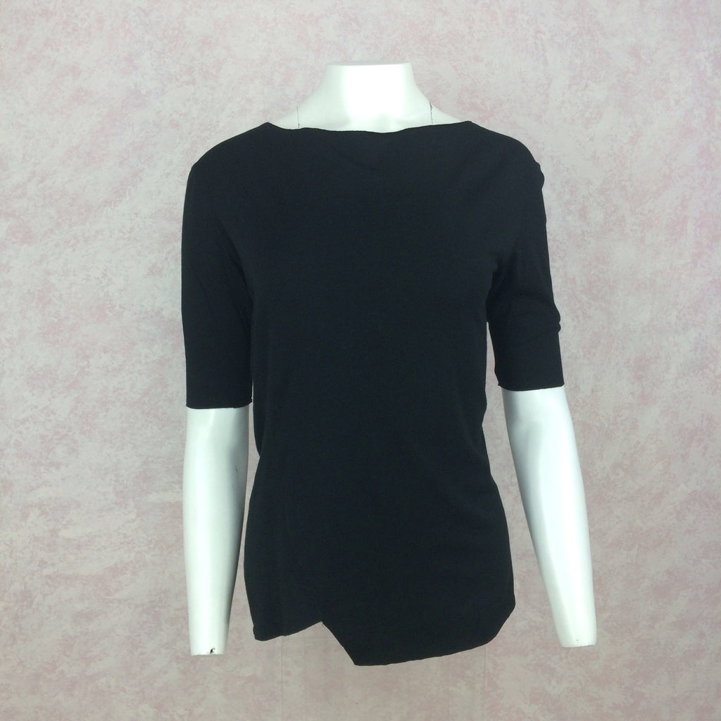 2000s GARY GRAHAM Black 3/4 Sleeve Top, NOS f