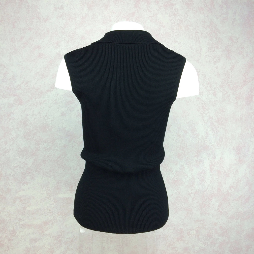 2000s THE WRIGHTS Ribbed Shell w/Ruffle Tux Front back