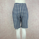 Vintage 50s Plaid Shorts, NOS. front