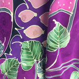 Vintage 80s Silk Hand Painted Top, detail