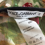 2000s DOLCE & GABANNA Mesh Rose Top, Label
