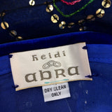 2000s HEIDI ABRA Sequin & Embroidered Skirt, Label