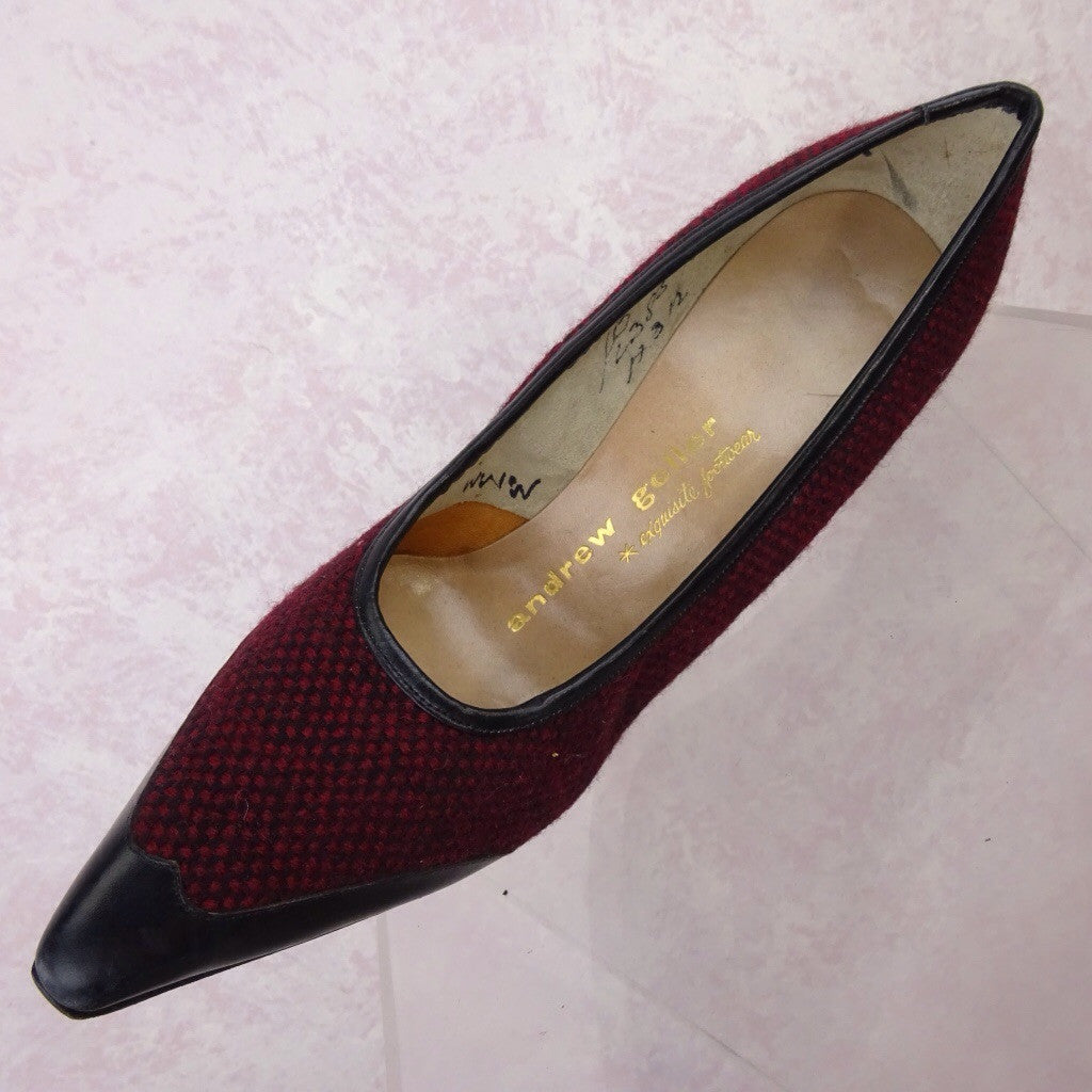 Vintage 50s Tweed & Leather Stilettos nm
