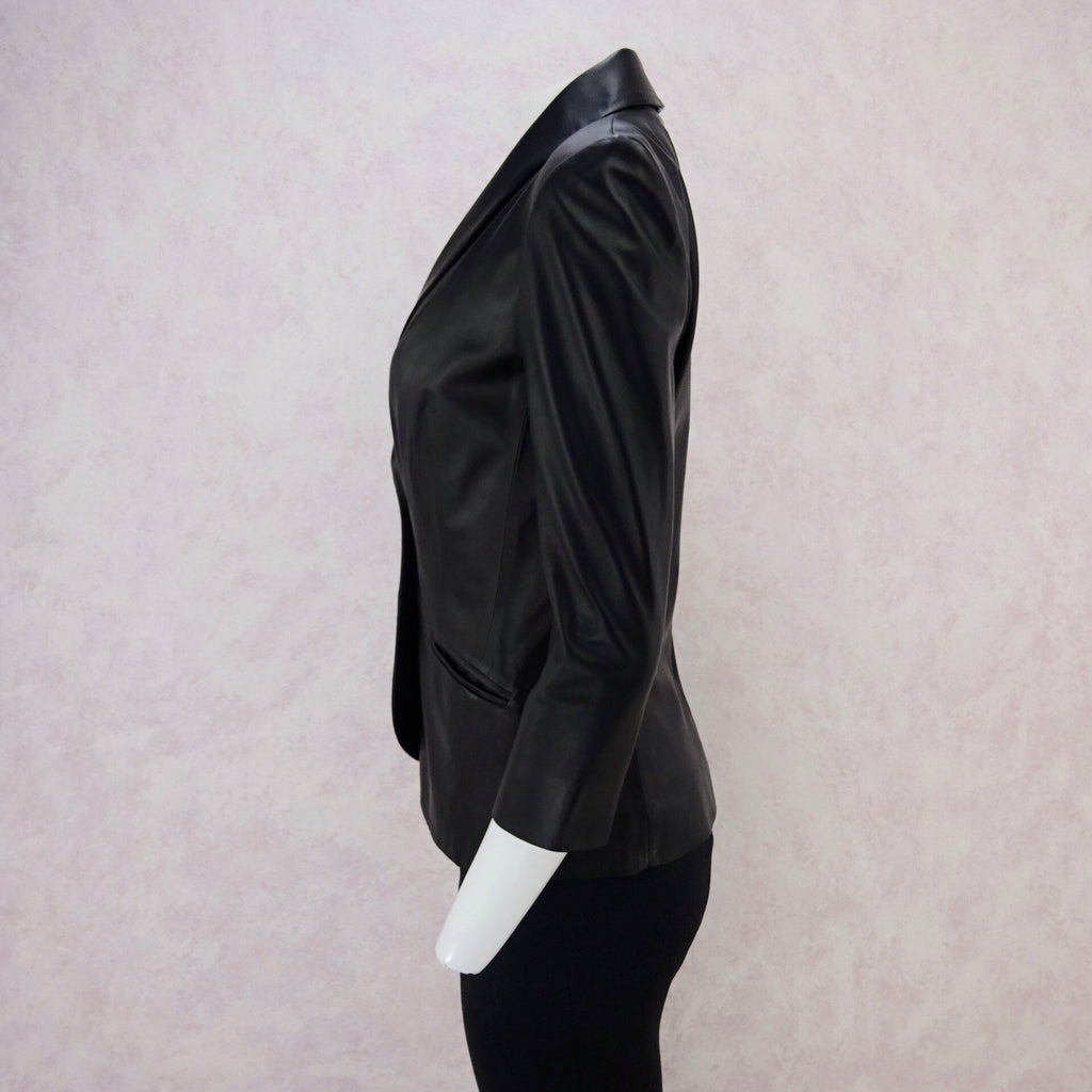 2000s JAY AHR Tailored Leather Blazer, NOS s