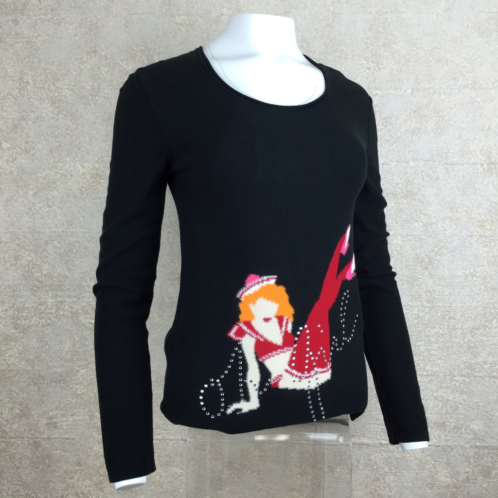 "Vintage 70s SONIA RYKIEL ""Oh Girl"" Sweater, side"