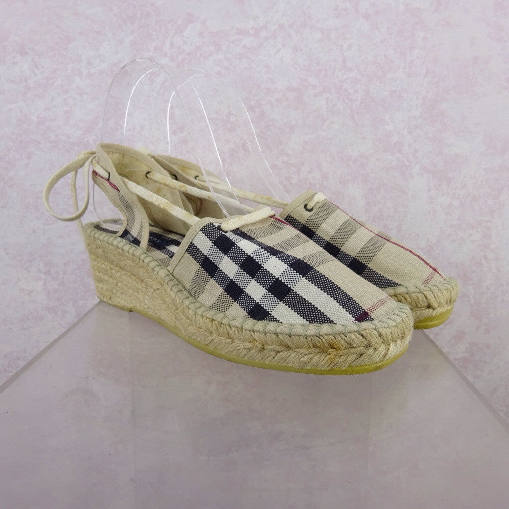 2000s BURBERRY Classic Espadrilles fds