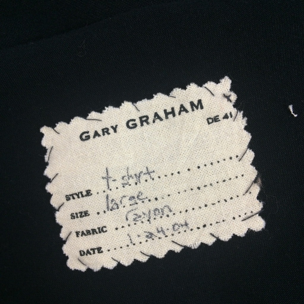 2000s GARY GRAHAM Black 3/4 Sleeve Top, NOS t