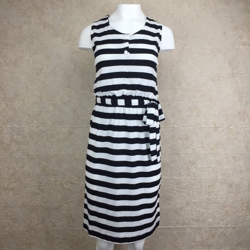 2000s Cotton Striped Dress, Front