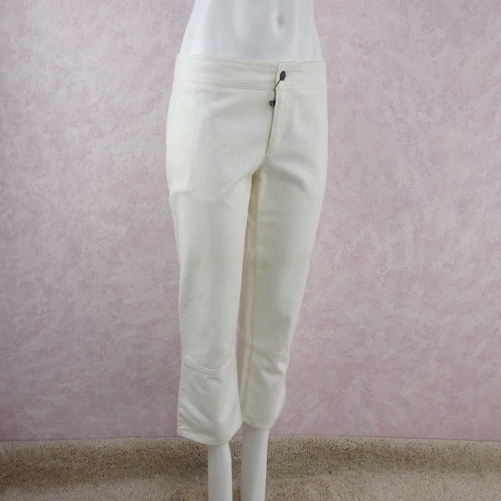 2000s GUCCI White Denim Jeans NWT side