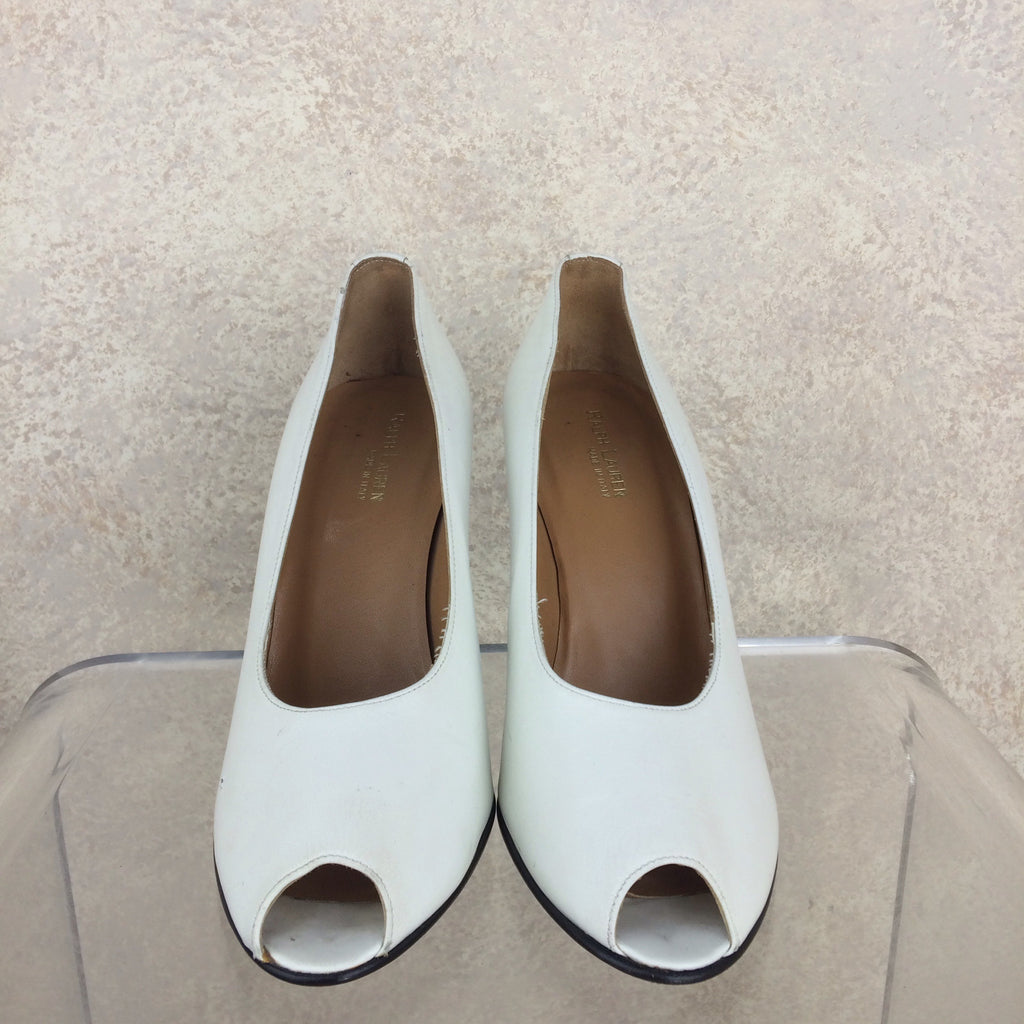 2000s RALPH LAUREN Peep Toe Pumps, Front