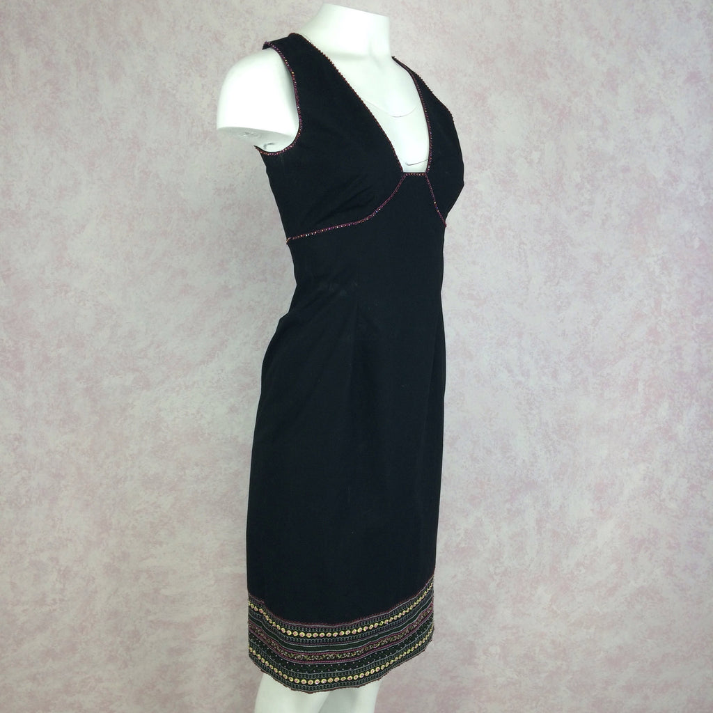 2000s BCBG Max Azria Dress w/Open Back, Side