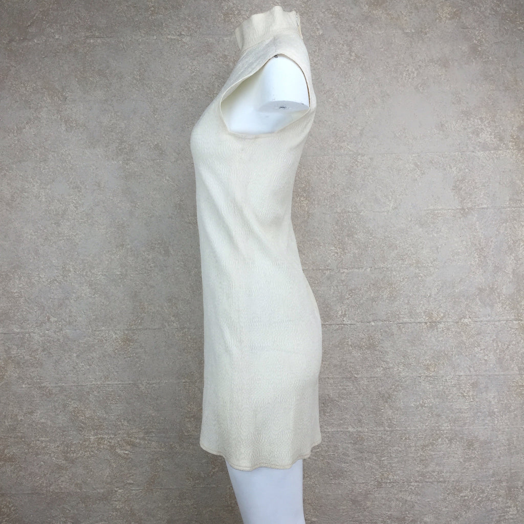 Vintage 90s PERRIS Silk Dress w/Mandarin Collar, Side 2