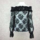 2000s BANG Lace Off-The-Shoulder Blouse, F