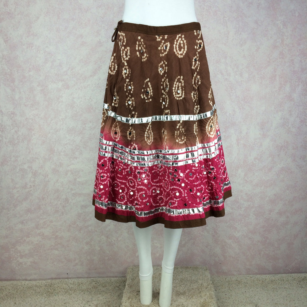 2000s Tiered Tie Dye Skirt w/Sequins, back