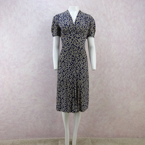Vintage 40s JULIANA Floral Seersucker Dress, NOS