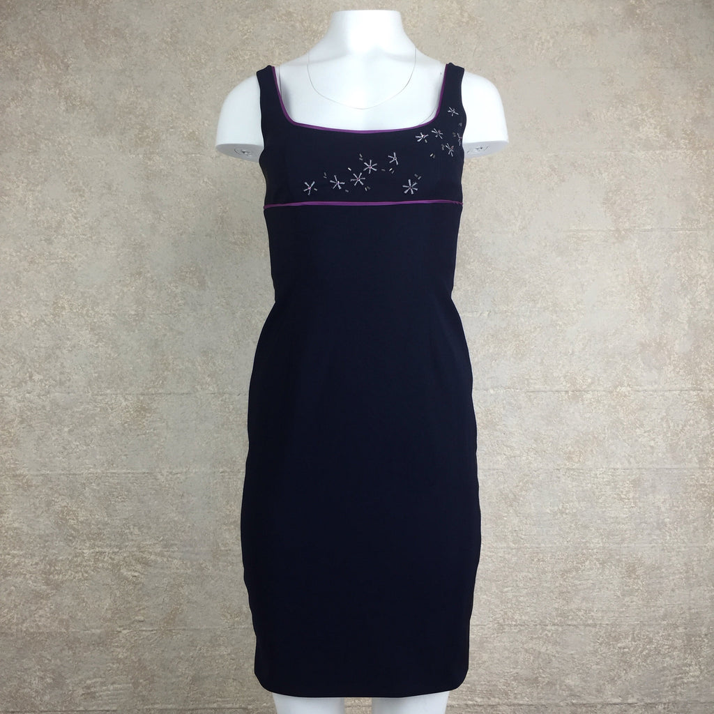 2000s LAUNDRY Sheath Dress w/Starburst Bodice, Front