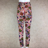 Vintage 50s Printed Wool Pencil Slacks, back
