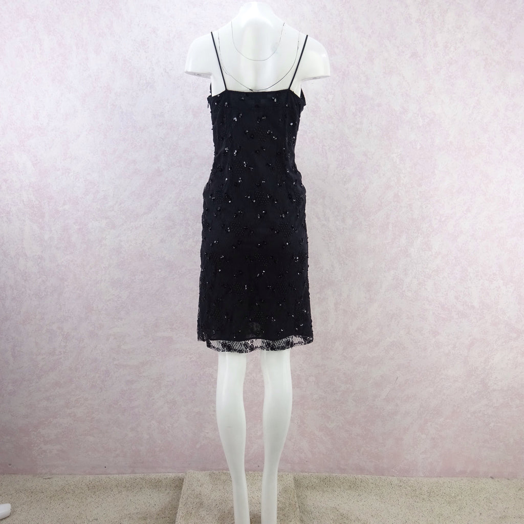 2000s BCBG Sequin Lace Slip Dress fg