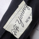 Vintage 50s GIGI YOUNG Black Tiered Cocktail Dress, Label