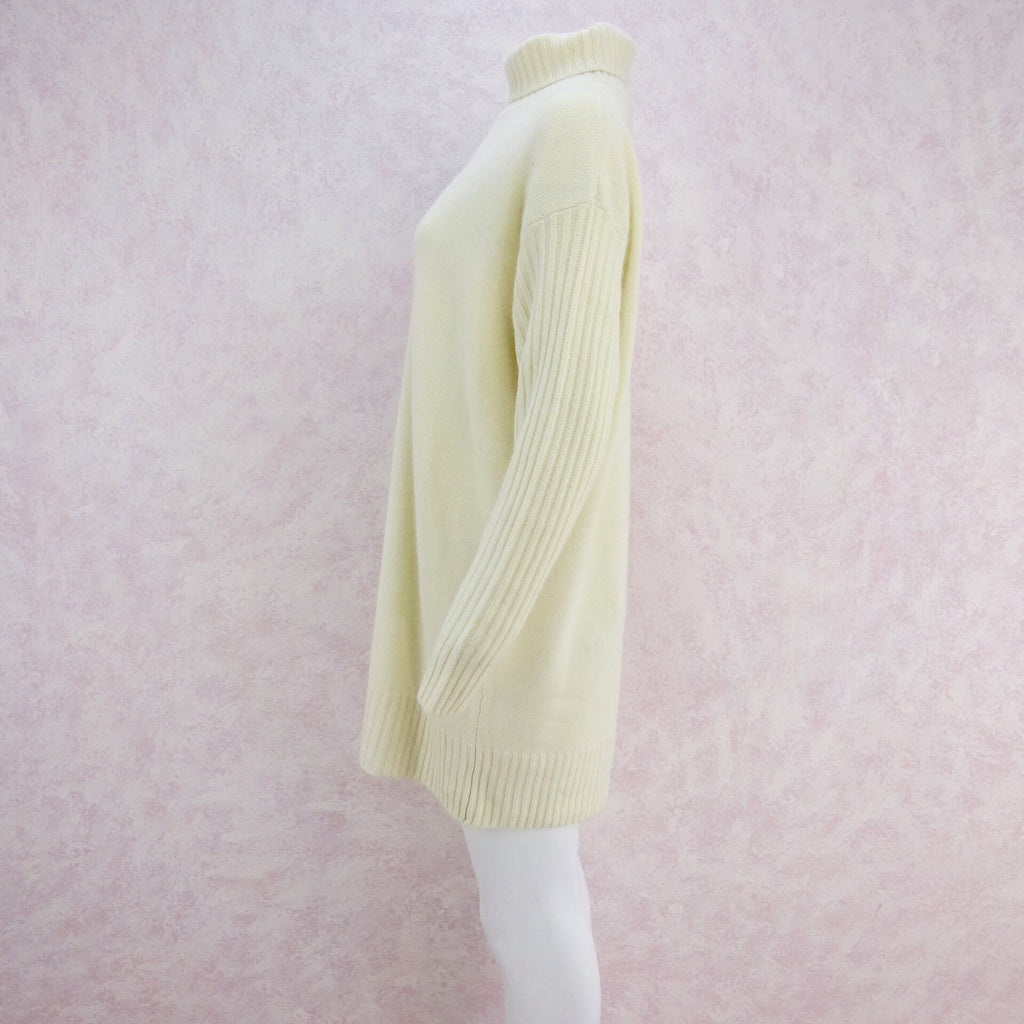 2000s Cashmere Knit Turtleneck Dress, Large NWT s1
