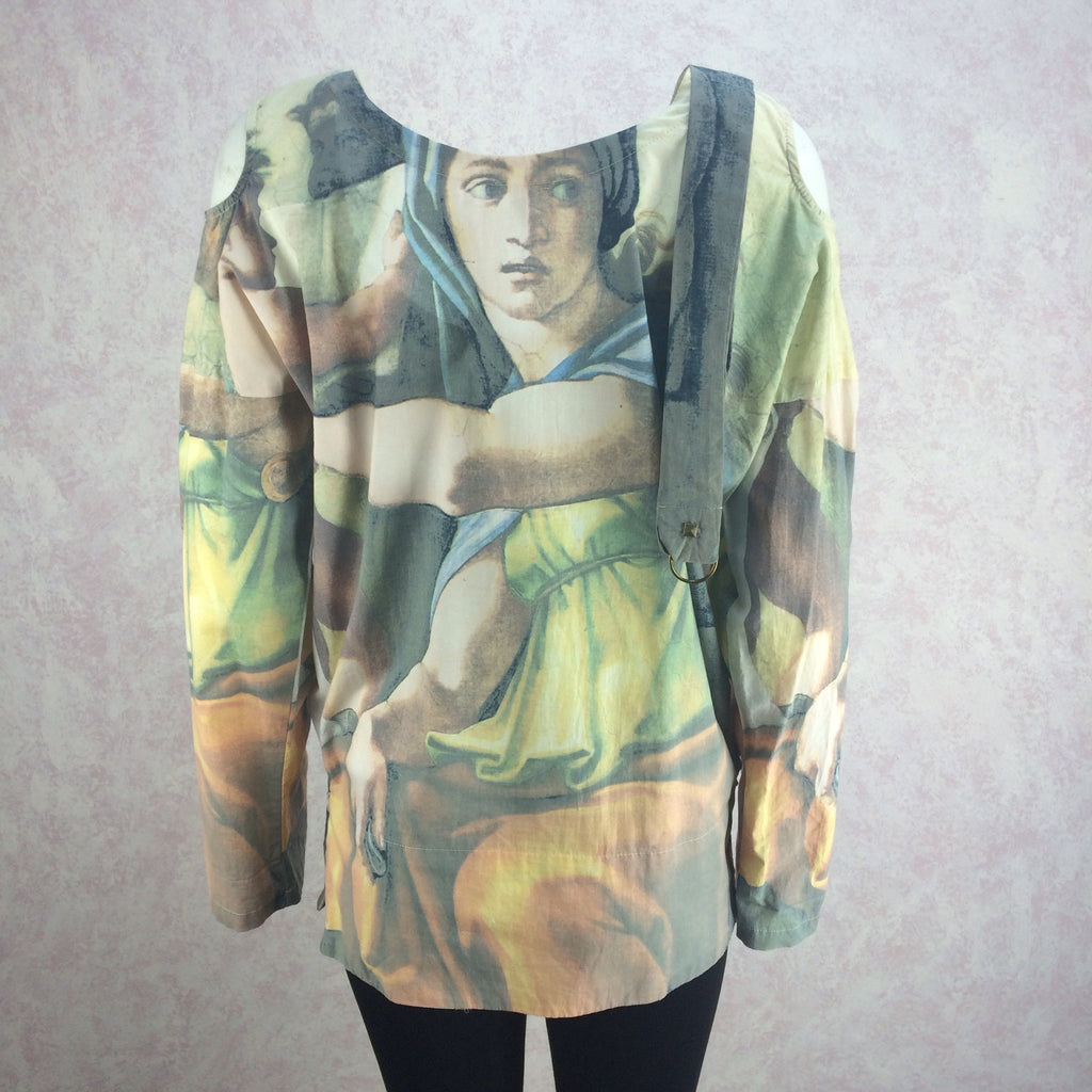 2000s Cotton Tunic w/Masterpiece Print, Back