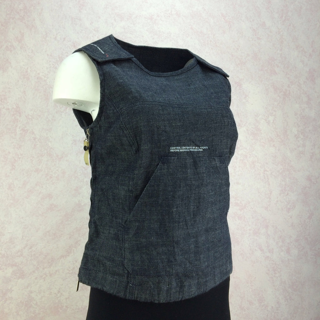 2000s DIESEL Industrial Denim Vest, Side