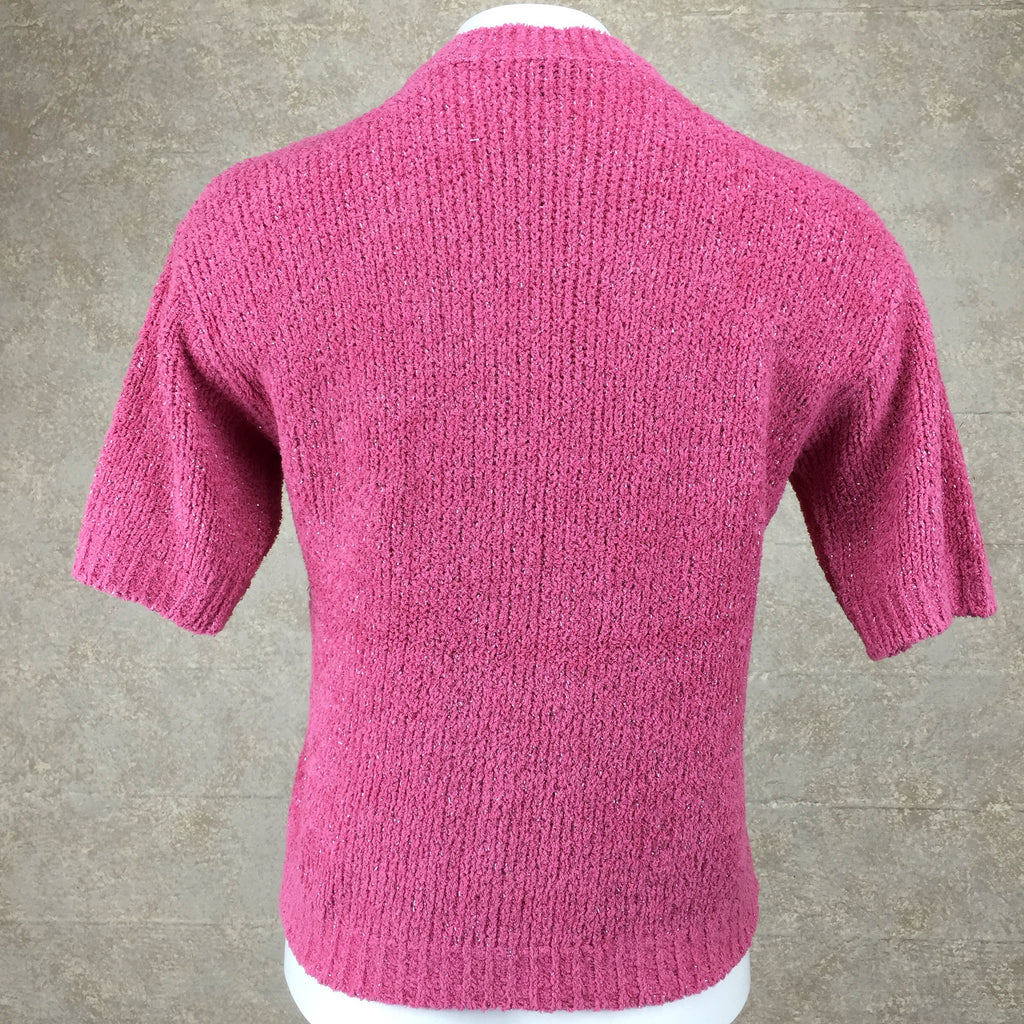 Vintage 90s BLUMARINE Chenille Knit Top, Back
