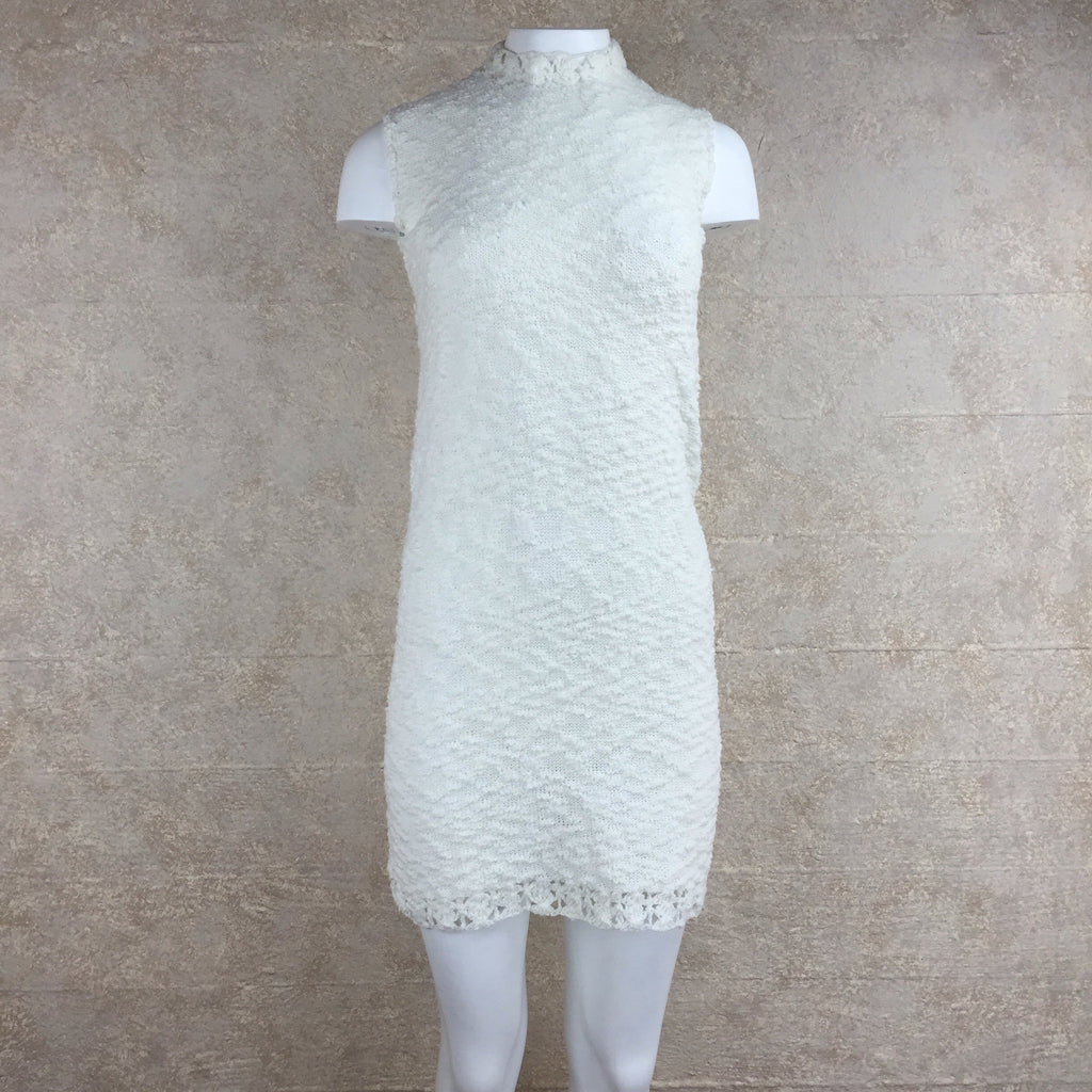 Vintage 60s Knit Bouclé Mini Dress, front